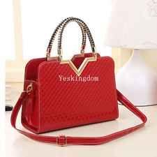 New Designer Fashion Womens Leather Style Tote Shoulder Bag Handbag Ladies