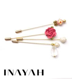 New limited edition hijab pin collection by INAYAH now available at www.inayahcollection.com