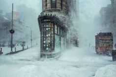 """Saatchi Art Artist michele palazzo; Photography, """"Flatiron Building in the Snowstorm - Limited Edition #10 of 30"""" #art"""