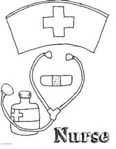 Nurse cap coloring pages ~ Nurse free medical clipart clip art pictures graphics ...