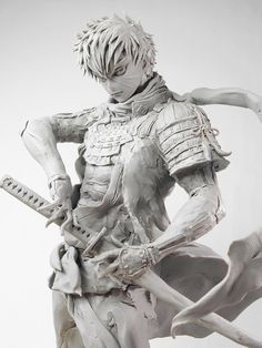 @oyamaryu3333333 3d Model Character, Character Concept, Character Art, Concept Art, Character Design, Clay Figures, Anime Figures, Statues, Asian Sculptures
