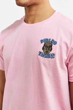Urkel Embroidered Face Tee