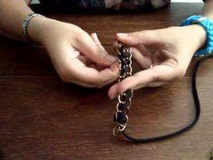 Tutorial Pulsera de Cadenas Diy Accessories, Collars, Chain, Beads, Handmade, Crafts, Necklaces, Jewellery, Bangles