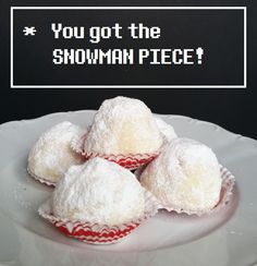 Recipe/Tutorial: Snowman Pieces + Around the Web (Undertale Undertea, part 3) | Pretty Cake Machine