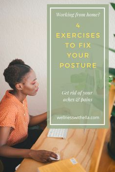 Get rid of your aches and pains and improve your posture by doing these easy exercises throughout your work day. Fitness Facts, Fitness Motivation, Wellness Tips, Health And Wellness, Shoulder Pain Exercises, Fix Your Posture, Interview Coaching, Shoulder Pain Relief, Workout Warm Up