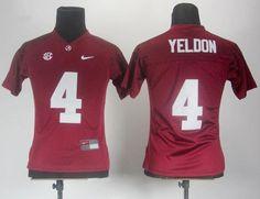 Women Alabama Crimson Tide T.J Yeldon 4 Crimson 2012 SEC Red College Football NCAA Jerseys