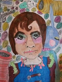 "#art ""Donnie""◇**5.5x7**◇Diamond Girl Art *ORIGINAL & VERY RARE! please retweet"