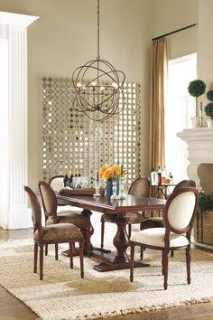 Elegant Love The Mirror And Dining Room Light Fixture! Sacha Mirror From Ballard  Designs