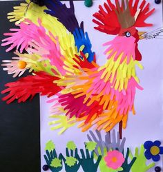 Rooster Craft for Chinese New Year 2017 Farm Crafts, New Year's Crafts, Crafts To Do, Preschool Crafts, Easter Crafts, Crafts For Kids, Arts And Crafts, Footprint Crafts, Handprint Art