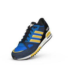 new styles 8c2b9 a1da1 ZAPATILLA ADIDAS ORIGINALS ZX750  D65230  Azul   Amarillo   Negro Traer de  vuelta la