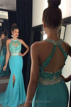 Blue Prom Dresses, C