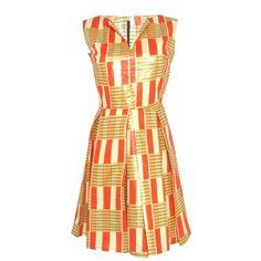 Fair+True Fair Trade Vent Pleat Dress found on Polyvore