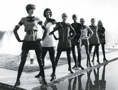 "Fashion through the ages: 1960s fashion ""Pierre Cardin was also a space age designer, though he focused on using space and colour as well as shiny and metallic materials."""