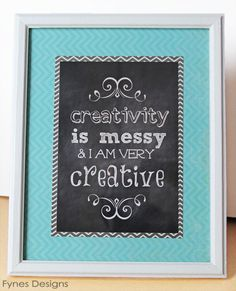 Chalkboard printable for the craft room