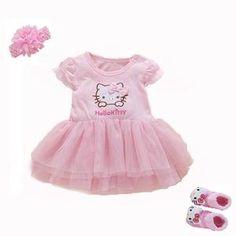 9b1e7c123 2018 Baby Girl Dress Summer Girls Dresses Style Infantile Dress Hot Sale Baby  Girl Clothes Summer Flower Style Dress Set+sock