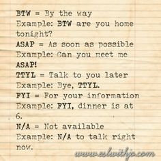 Text talk meanings