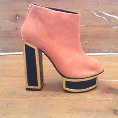Gorgeous pink suede bootie. Check out more great products on free local shopping app Snapette - www.snapette.com/app