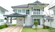 Unique Country House Plan With Four Bedrooms And Three Bathrooms - House And Decors Small Cottage Designs, Small House Design, Modern Style Homes, Modern Bungalow, Three Bedroom House, Bedroom Small, Bedroom Modern, Modern Architectural Styles, House With Balcony
