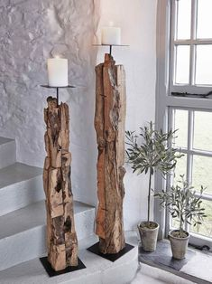 Driftwood Floor Candle Holders Our beautifully hand-crafted driftwood candle holders are undeniable statement pieces. The post Driftwood Floor Candle Holders appeared first on Rustikal ideen.
