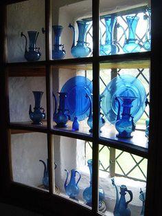Blue glass at Sissinghurst, England...