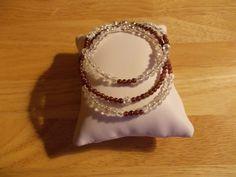 Garnet and crackle quartz stacker bracelets £10.00