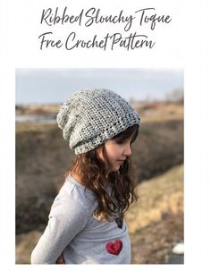 The Tweed Toque Free Crochet Pattern — Stitch & Hustle Ribbed Crochet, Crochet Slouchy Hat, Crochet Cardigan Pattern, Crochet Stitches Patterns, Crochet Designs, Free Crochet, Crochet Hats, Knitting Patterns, What Is Knitting