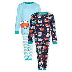 Buy John Lewis Boy Campervan and Bear Pyjamas, Pack of 2 Online at johnlewis.com