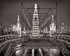 "Coney Island circa 1905. ""Night in Luna Park."" glass negative, Detroit Publishing Company."