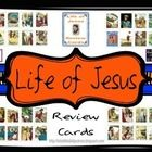 Life of Jesus review cards freebie to use with any Life of Jesus studies.