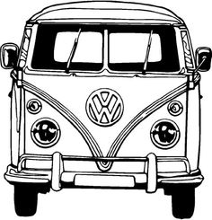 VW Bus Coloring Pages Printable. VW bus is the second line of the motor vehicle presented by the German car manufacturer Volkswagen, in