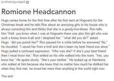Ron, Hermione and little Hugo