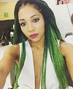 box braids verde - Pesquisa Google