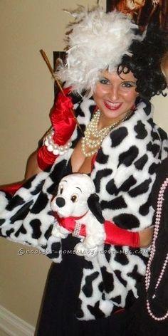 Easy Cruella De Vil Homemade Halloween Costume... This website is the Pinterest of costumes