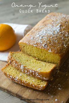 This Orange Yogurt Quick Bread is low in fat and has no refined sugar, but is full of amazing orange flavor. #honey #greekyogurt