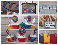 Avenger Party - Birthday - Avengers Inspired DIY CUSTOMIZED PRINTABLE Party Set. $31.00, via Etsy.