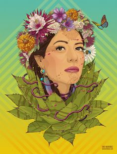 Illustration commissioned by Unimodaa® to make a tribute to Mexican singer Lila Downs and her influence in traditional fashion. Illustration includes pencil drawings on Fabriano® paper, remastered, inked and coloured with Wacom Intuos in Adobe Photoshop.