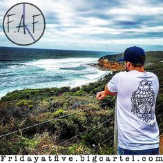 Friday at Five made it to Victoria over the weekend.  Featured is our eagle has landed tee overlooking Bells Beach  home of the WSL rip curl pro  Get your gear at http://ift.tt/1pUL0o8  #fridayatfiveapparel #faf #bellsbeach #ripcurlpro #bellsbeachpro16 #bellsbeachpro #tees #tanks #hats #mensapparel #mensfashion #newbrand #newplayer #makingmoves #bigplans #dreambig #humblebeginnings #upperhunter #theeaglehaslanded by fridayatfiveapparel http://ift.tt/1KnoFsa