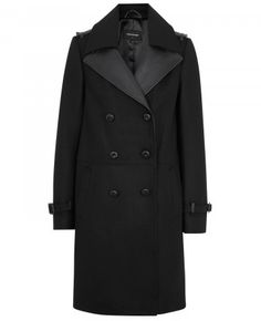 Mackage black wool felt blend coat Leather trim, button fastening epaulettes, buckle fastening straps at cuffs, two front slip pockets, vent at back hem, fully lined Double-breasted button fastenings at front - See more at: http://www.harveynichols.com/womens-1/categories/designer-coats/long/s469939-leather-trimmed-wool-felt-blend-coat.html?colour=BLACK#sthash.dluP1k4L.dpuf