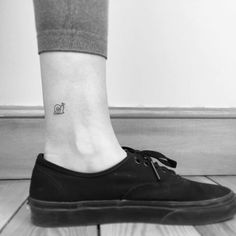 Mini Snail Tattoo on Ankle