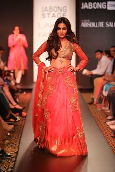 Showstopper Chitarangada Singh for Designer Harshitaa Chatterjee Deshpande