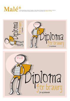 Diplom za statečnost - Diploma for bravery i v čj verzi - pro nekomerční využití www.zlesa.blogspot.com