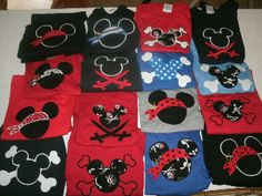 cute pirate tshirts and cute mickey barrettes!