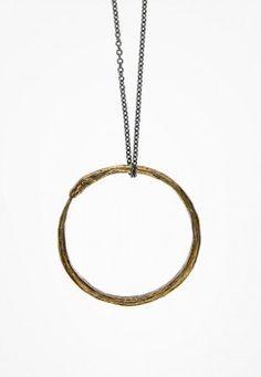 ACTUAL PAIN-Ouroborus Pendant/Bracelet in Natural Bronze $90 craft