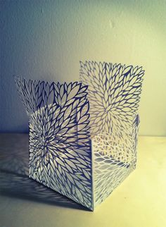 Illusion: What is interesting about Rachael Ashe's paper cutouts is, she not only creates two-dimensional art but also makes three-dimensional sculptures. Her transparent boxes have a wow factor with the overlaid organic patterns, and when light peeks through, the shadows create a 4th element to each piece. http://illusion.scene360.com/art/42761/paper-art-inside-out/