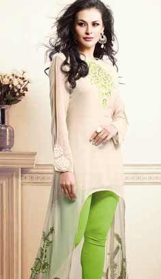 Indian Fashionable Cram Bamberg Georgette Kurti