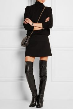 Gucci | Horsebit-detailed leather over-the-knee boots | NET-A-PORTER.COM