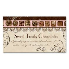 198 Best Sweet Treats Business Cards Images In 2019 Sweet Treats