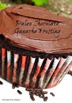 Paleo chocolate ganache frosting is easy to make and delicious! Only 3 ingredients! Chocolate Ganache Frosting, Dark Chocolate Cupcakes, Paleo Chocolate, Melting Chocolate, Paleo Frosting, Sugar Free Frosting, Best Gluten Free Recipes, Paleo Recipes, Paleo Dessert