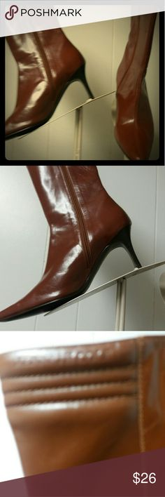 Smartys Boutique Shoe Sale Kenneth Cole Boots Brand New, side zipper, Kenneth Cole name on boots see picture, rust color, 3 inch heel, perfect for the fall. PRICE IS FIRM. Kenneth Cole Shoes Heeled Boots