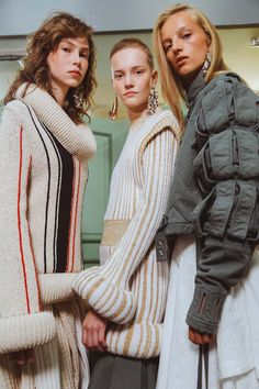 Behind-the-scenes at J.W.Anderson during London Fashion Week. Photographed by Driely S.